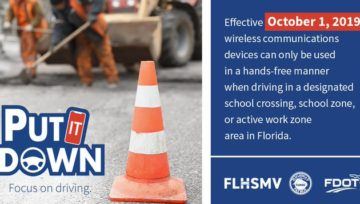 Florida Cracks Down - New Texting and Driving Law Begins October 1st