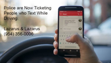 No More Warnings - Tickets for Texting are Here Now - Lazarus Law Firm
