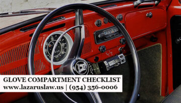 Glove Compartment Check-Up and Checklist - Lazarus & Lazarus Law Firm - Auto Accident Attorneys